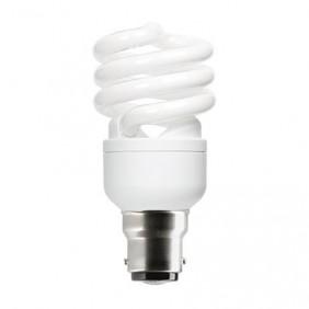 Lampe fluocompacte Spirale - culot B22 baïonnette GE LIGHTING