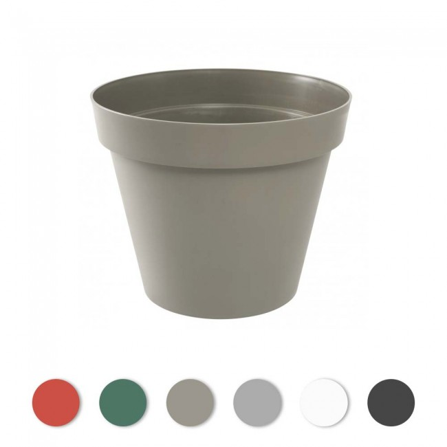 Pot rond - diamètre 60 cm  - 76 litres - Toscane 13614 EDA PLASTIQUES