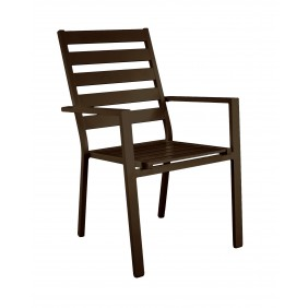 Lot de 2 fauteuils aluminium - coussins écru - Sarana INDOOR OUTDOOR