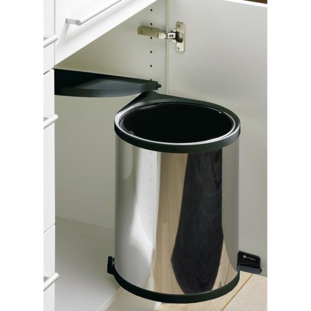 Poubelle De Porte Automatique En Inox Seau De Litres Bricozor - Poubelle porte cuisine