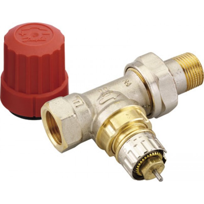Robinet thermostatisable droit avec pr r glage ra n 15 filetage 15x21 danfoss bricozor - Robinet thermostatique droit ...