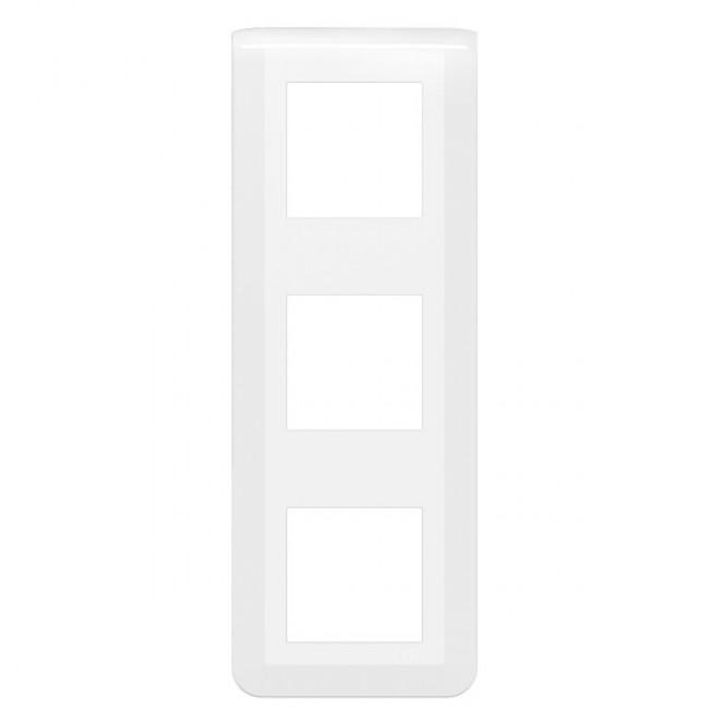 Plaque décorative verticale Mosaic blanche - 3x2 modules LEGRAND