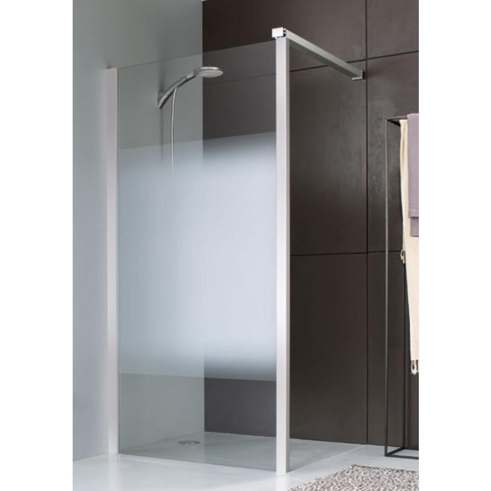 paroi fixe 90 cm pour montage d 39 angle profil blanc leda bricozor. Black Bedroom Furniture Sets. Home Design Ideas