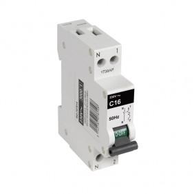 Disjoncteur 3KA 1 module PH+N - 2 à 32A - blanc DEBFLEX
