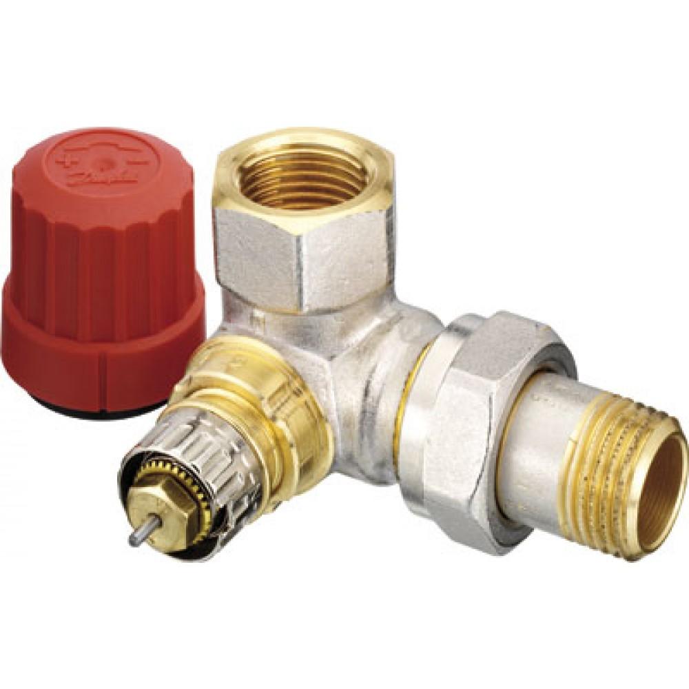 Corps de robinet d 39 angle c t droit ra n 10 filetage 12x17 danfoss bricozor - Robinet thermostatique droit ...