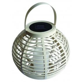 Lanterne colorée diamètre 22.5 cm blanc FINE GARDEN