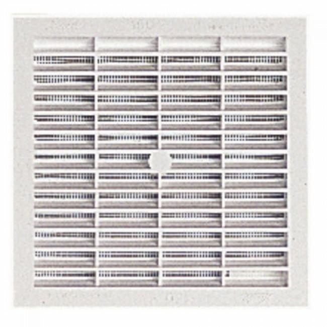 Grille de ventilation B114 à visser ou à coller, avec moustiquaire, 131x131, 100cm2 NICOLL