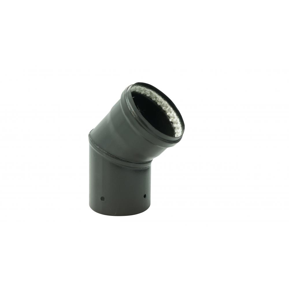 Coude Acier émail Noir à 45° - Diamètre 100 Mm