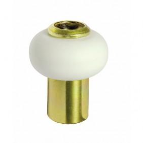 Butoir de sol acier laitonné - diamètre 30 mm - bourrelet blanc CIVIC