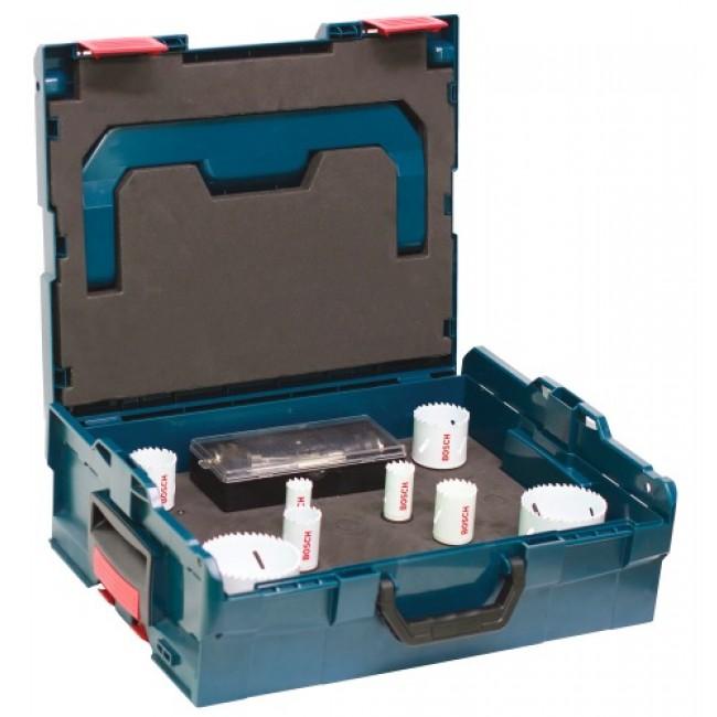 Coffret 8 scies trépans Progressor - mallette L-Boxx - bois et métal BOSCH
