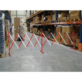 Barrière extensible de chantier double en acier - 4 mètres VISO