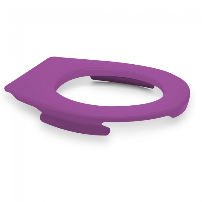 Lunette wc clipsable - 100 % hygiénique - violet PAPADO