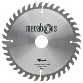 Lames scie circulaire carbure denture alternée pour finition MÉCABOIS