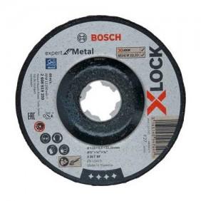 Disque à ébarber pour métal 125 mm à moyeu déporté - système X-lock BOSCH