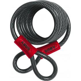 Câble spiral - à boucles - revêtement PVC - 8mm x 185 cm - 1850 ABUS