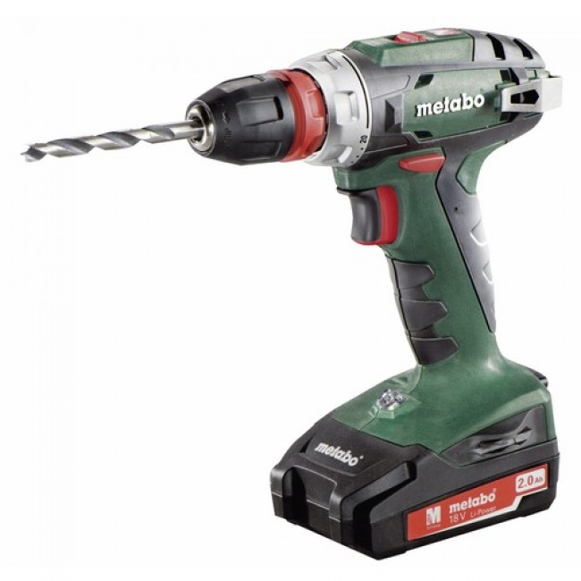 Perceuse-visseuse sans fil 18 V + 2 batteries Li-Power - BS 18 L Quick METABO