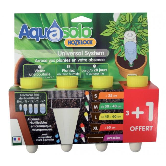 Cône Aquasolo pack 3+1 JAUNE Taille L AQUASOLO BY HOZELOCK