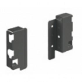 Raccords arrière pour parois en bois/aluminium-H70 mm-anthracite HETTICH