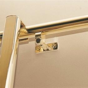 Supports droits vertical et horizontal sur platine pour tube 30 mm CUIVRINOX
