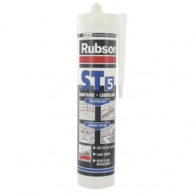 Mastic silicone sanitaire ST 5 silicotec RUBSON