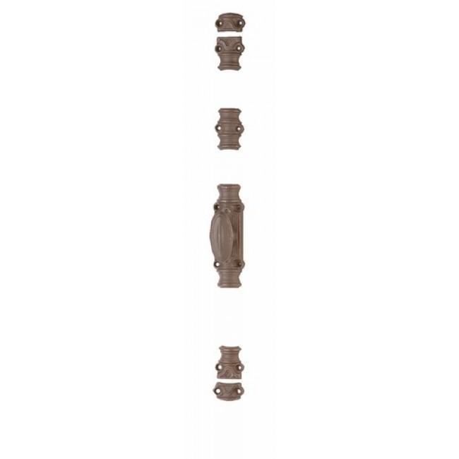 Crémone en fonte pour fenêtre bois - RY 16-02 gris mat JARDINIER MASSARD