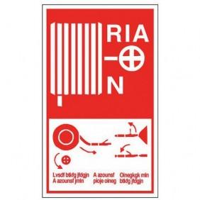 Panneau de prévention incendie - mode d'emploi R.I.A - rigide NOVAP