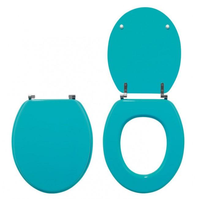 Abattant wc - sur cuvette standard - Turquoise Color Line WIRQUIN PRO