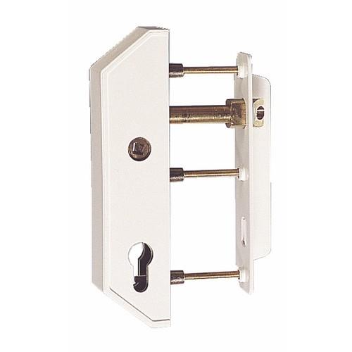 Serrure de portail - pose verticale - cylindre européen - cadre 40 mm