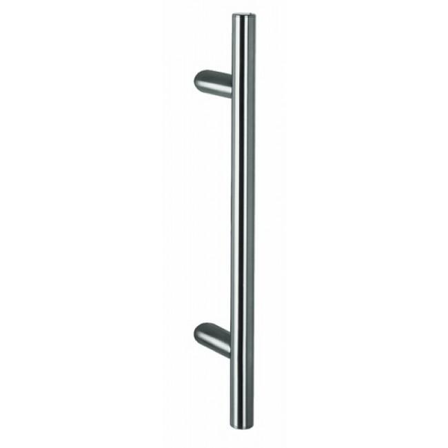 Poignée de porte battante - inox - 32 mm - inclinée - STG 522-32 NORMBAU