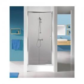 Paroi de douche - coulissante / 2 vantaux - 120cm - verre transparent - Tyxo LEDA