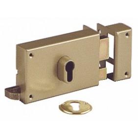 Serrure en applique horizontale à tirage - cylindre européen - 7415 VACHETTE