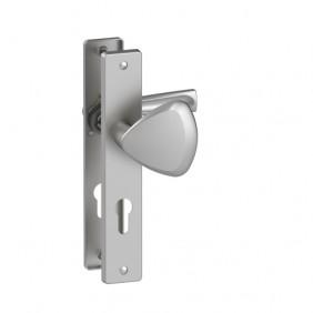 Poignée porte palière sur plaque - entraxe 195 mm - zamak - FLEX ASSA ABLOY VACHETTE