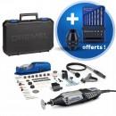 Dremel 4000 multi-fonction 175W 65 accessoires + mandrins et forets