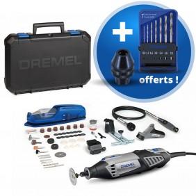 Dremel 4000 multi-fonction 175W 65 accessoires + mandrins et forets DREMEL