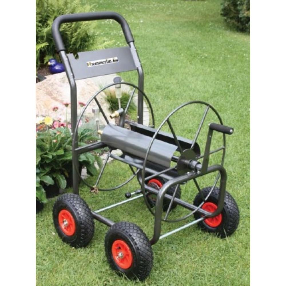 chariot d vidoir m tallique 4 roues 110 m de tuyau haemmerlin bricozor. Black Bedroom Furniture Sets. Home Design Ideas