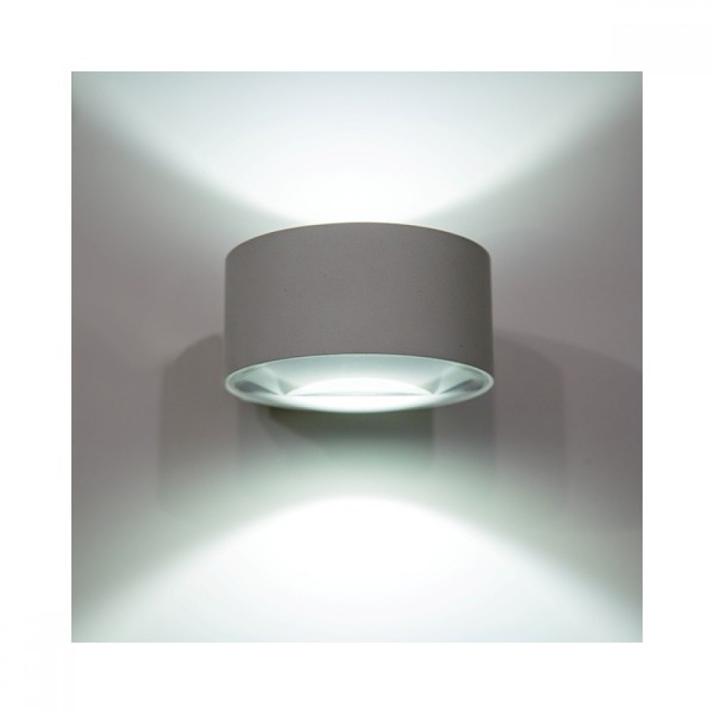 applique luminaire mural led lens double faisceau oggi luce bricozor. Black Bedroom Furniture Sets. Home Design Ideas