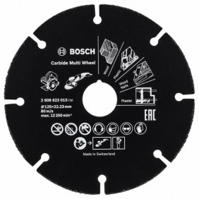 Disque carbure - multi-usages - 125 mm - Multiwheel BOSCH