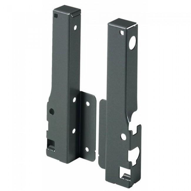 Raccords arrière pour parois en bois/aluminium - hauteur 144 mm HETTICH