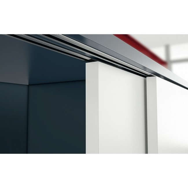 profil haut pour porte coulissante sysline s hettich bricozor. Black Bedroom Furniture Sets. Home Design Ideas