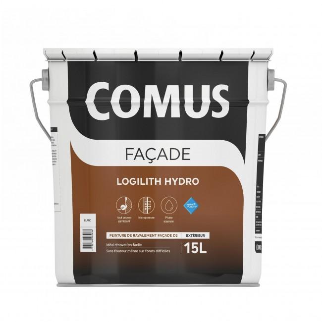 Peinture façade mircoporeuse - 5 litres - Logilith hydro blanc COMUS