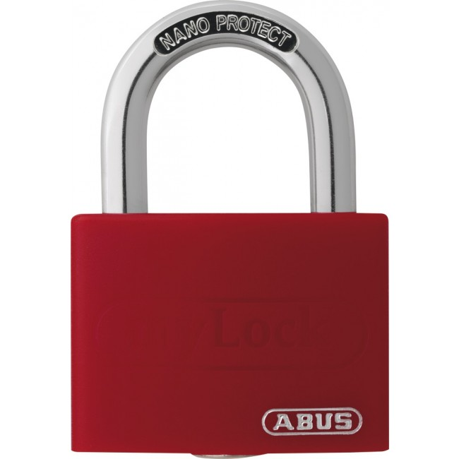 Cadenas aluminium personnalisable rouge - largeur 40 mm - T65AL myLock ABUS