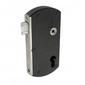 Serrure portail en applique à pêne réglable - polyamide - Modulox GB TIRARD