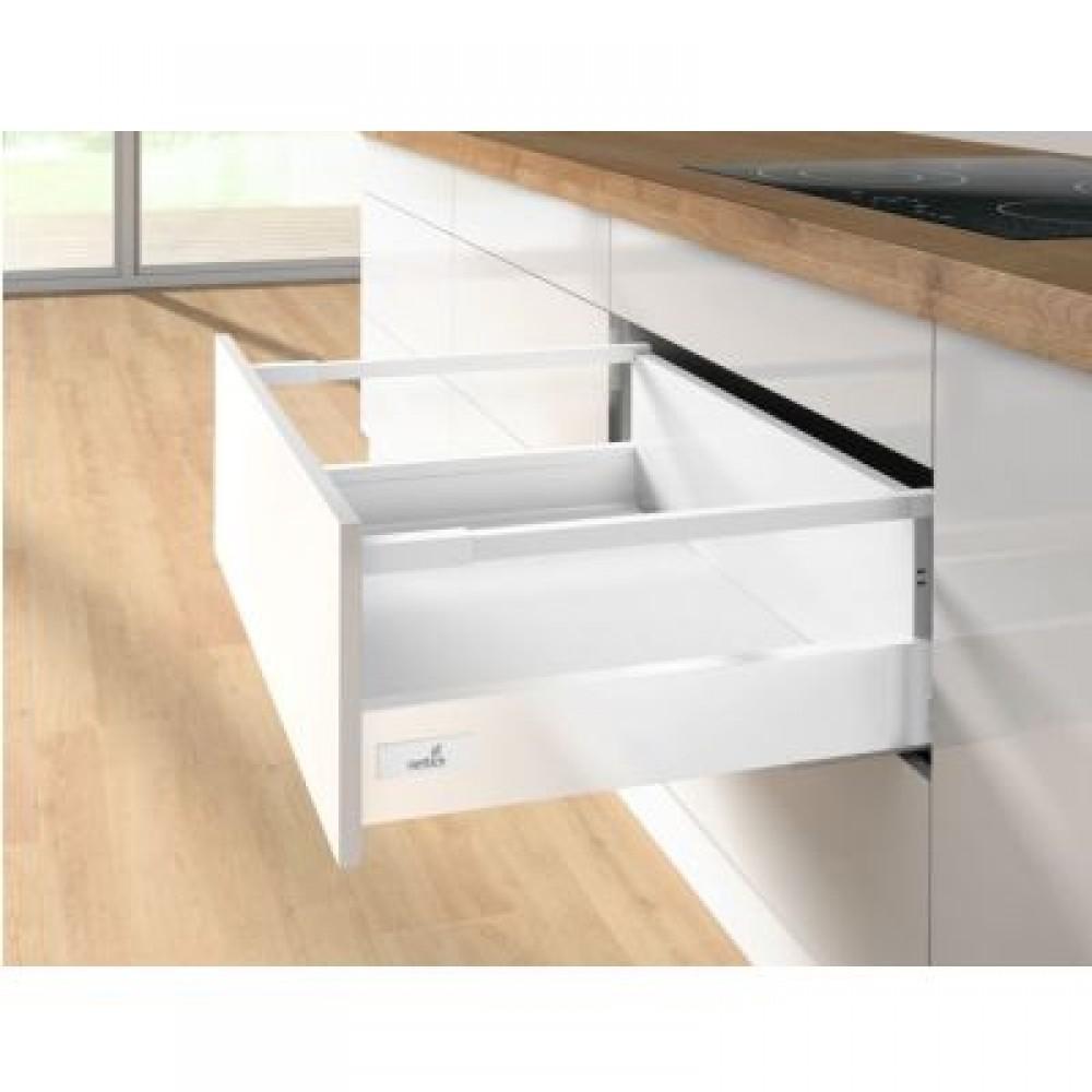 kit tiroir tringles innotech atira h144 mm silent system 30 kg blanc hettich bricozor. Black Bedroom Furniture Sets. Home Design Ideas