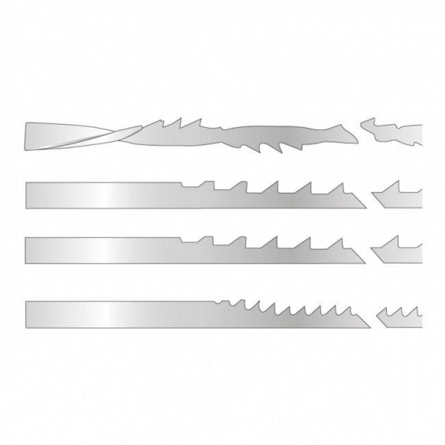 Assortiment 12 lames de scie à chantournée à bouts lisses 127 mm SAC LEMAN