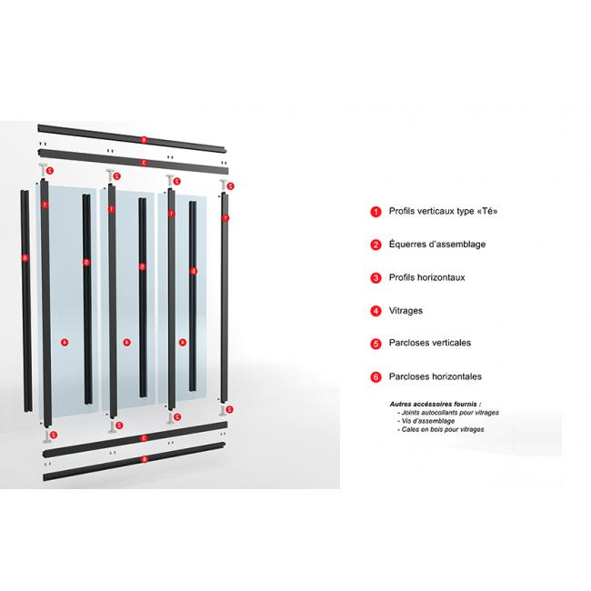 kit verri re int rieure avec vitrage 3 panneaux kit. Black Bedroom Furniture Sets. Home Design Ideas