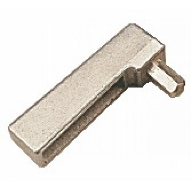 Clé pour verrouilleur de ferrure M6/4 pour oscillo-battants bois contre coudé jeu de 4 mm, recouvrement de 15 mm FERCO