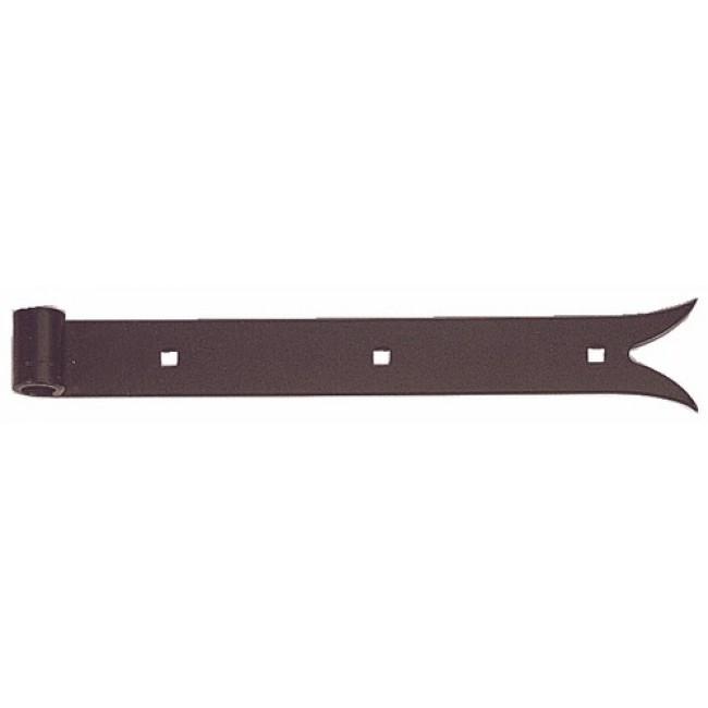 Penture droite à queue de carpe en acier noir JARDINIER MASSARD