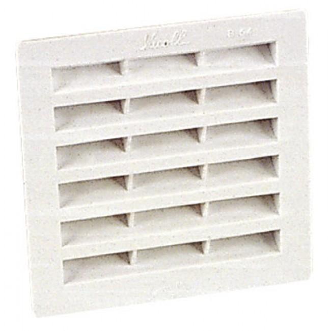 Grille de ventilation B104 à visser ou à coller, 131x131, 100cm2 NICOLL