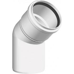 Coude à 45 PPS rigide pour tubage de chaudière à condensation TEN