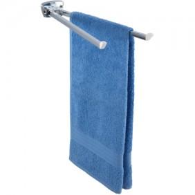 Porte serviette mural pour salle de bain - 2 bras mobiles carrés WENKO